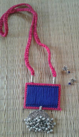 Blue & Pink Handcrafted Necklaces