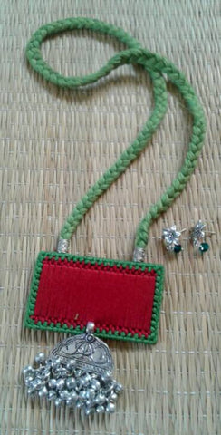 Green & Red Handcrafted Necklaces