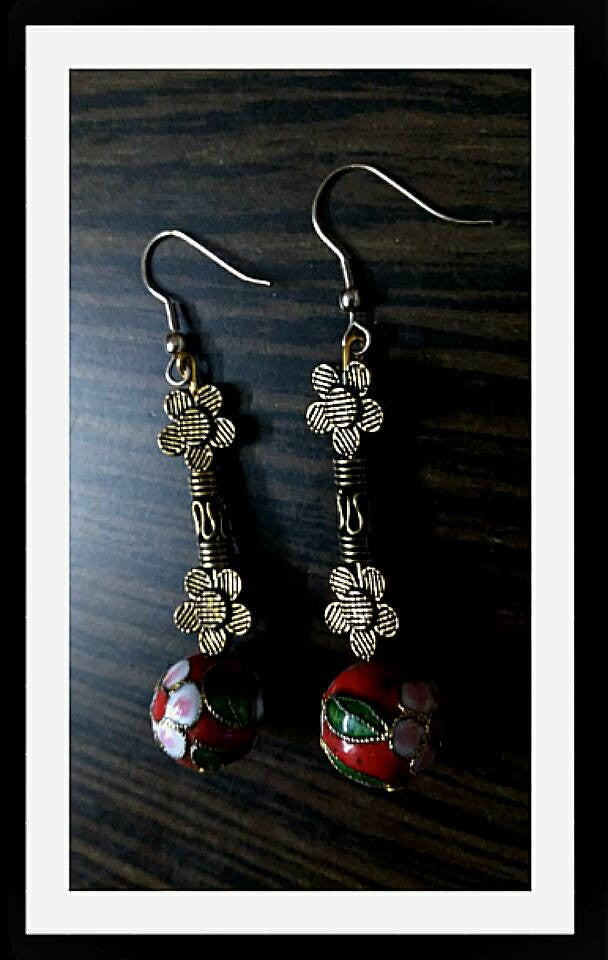 Silver 1 colour Hand Made Earrings