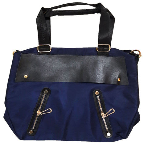 Gorgeous Navy Blue Zip Totes