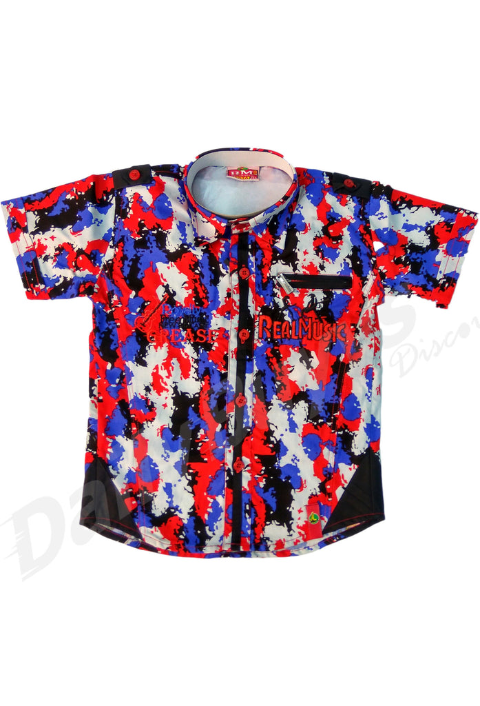 Blue Red White Sleeve Shirt And Black Half Pant Boys Clothing