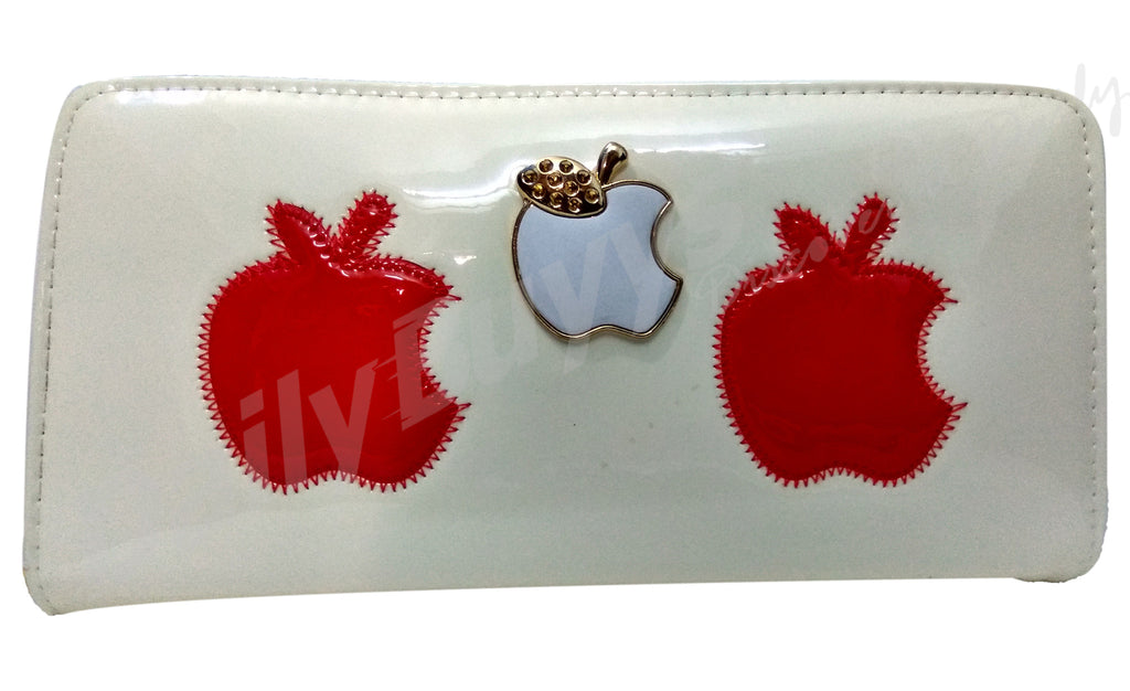 Apple red and white ladies Wallet - Dailybuyys