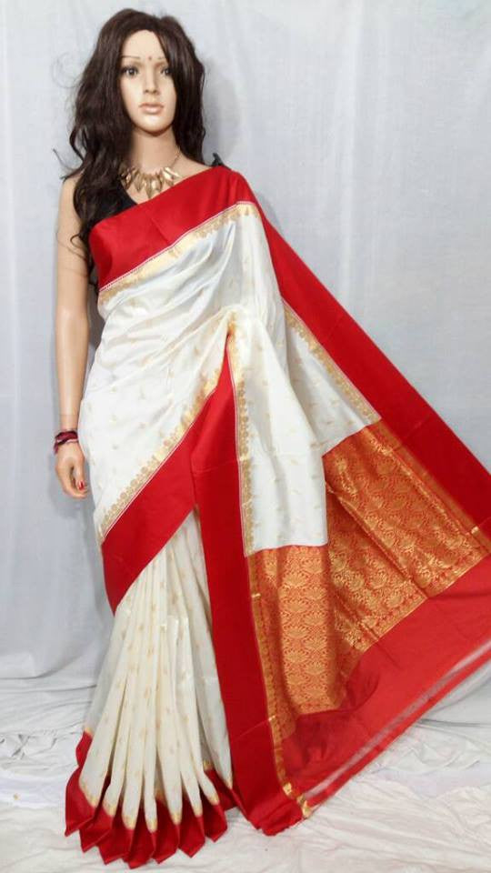 Red Garad Silk Sarees