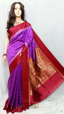 Red Purple Garad Silk Sarees