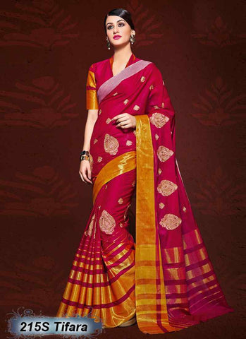 Pink & Golden  Modal Cotton Gota Sarees