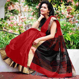 Red Raw Silk Sarees