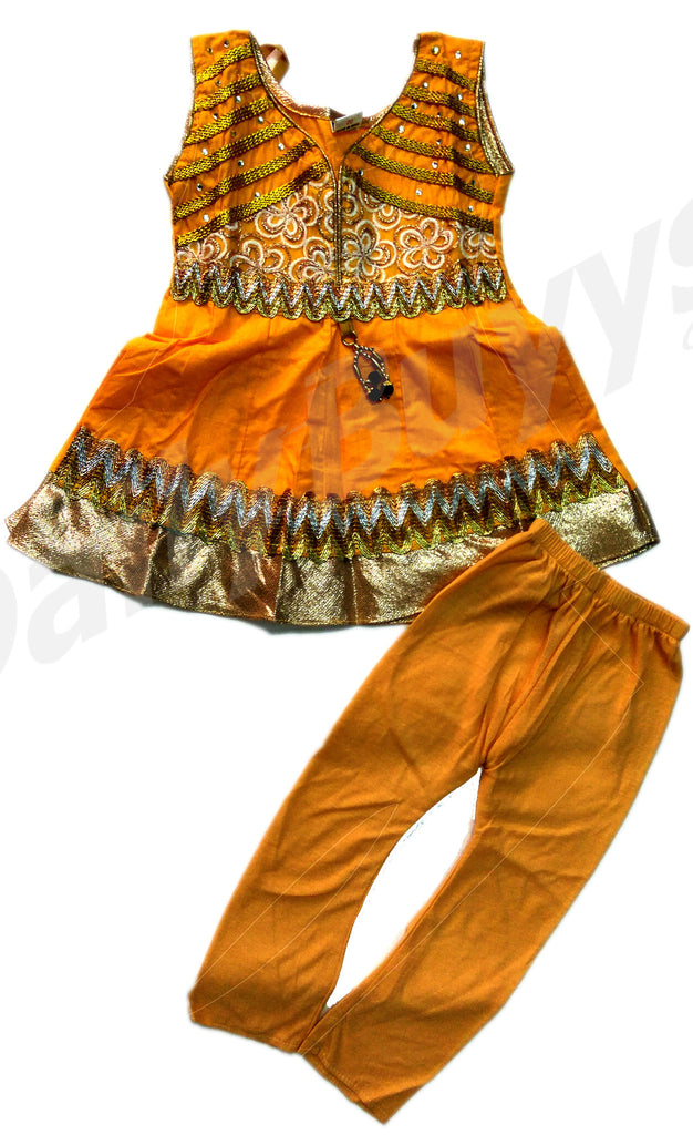 Orange Party Dress Girls Clothing