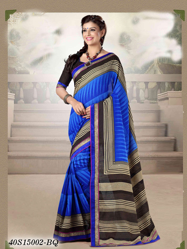 Blue & Black Banarasi Silk Sarees