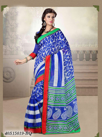 Blue & Green Banarasi Silk Sarees