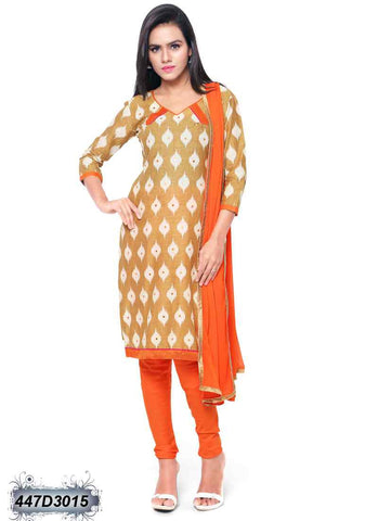Beige Cotton Salwar