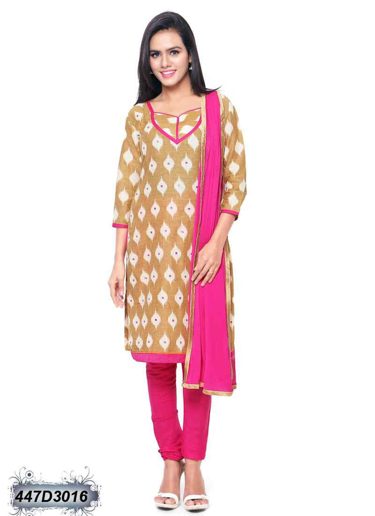 Beige & Cotton Salwar - Dailybuyys
