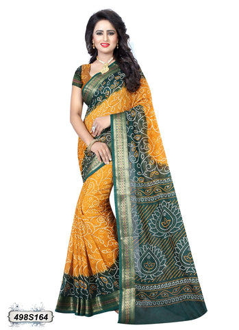 Yellow,Green Art Silk Sarees