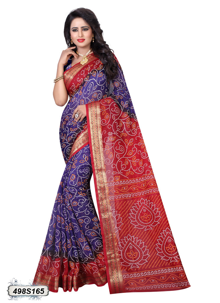 Purple,Maroon Art Silk Sarees