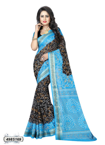 Blue,Black Art Silk Sarees