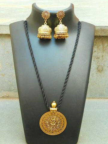 Blue stone white and golden  Jewellery Sets