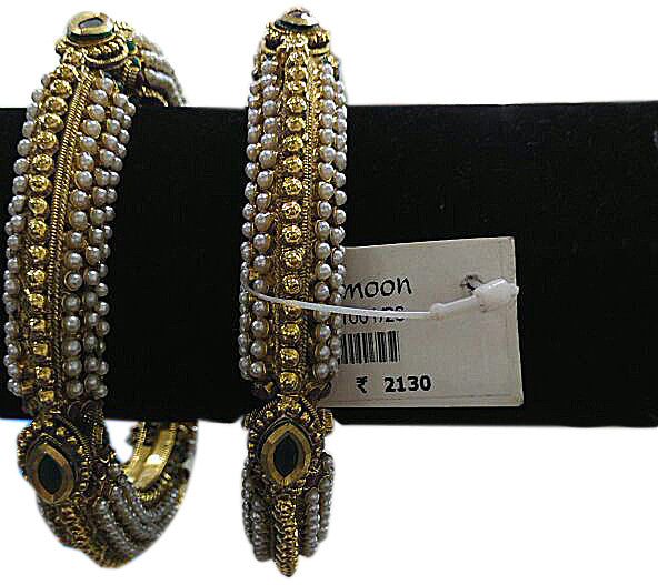 Golden black stone pearl Bracelet