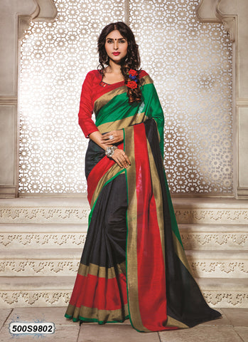 Red Art Silk Sarees
