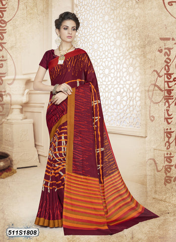 Purple Bahubali Poly Cotton Sarees
