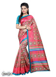Pink Green Art Silk Sarees