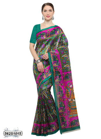 Green Art Silk Sarees