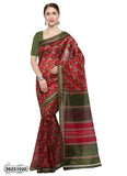 Red, Green Art Silk Sarees