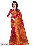 Maroon,Orange Art Silk Sarees