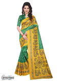 Green,Yellow Art Silk Sarees