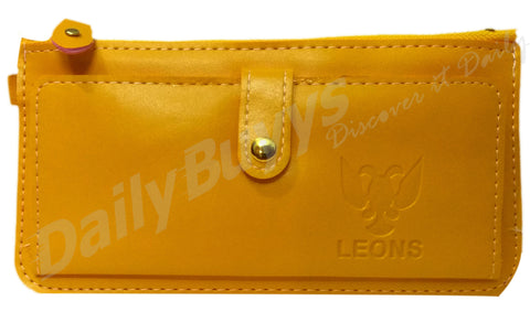 Yellow matte finish ladies Wallet
