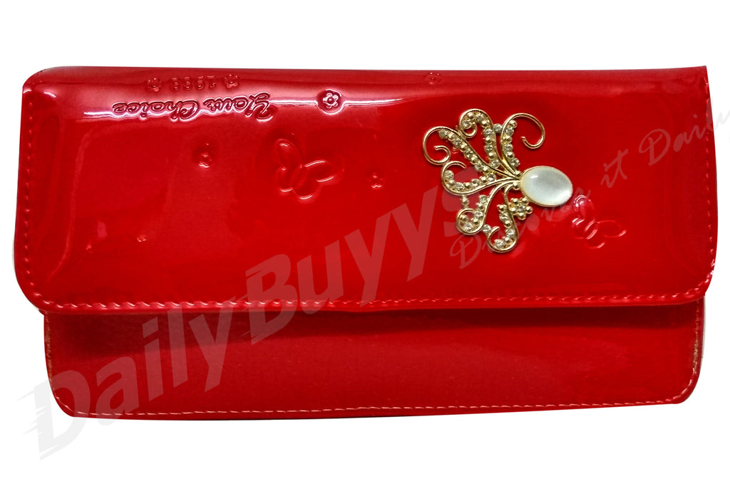 Red glossy ladies Wallet
