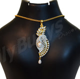 Beautiful white stone and pearl designed Jewellery Sets - Dailybuyys
