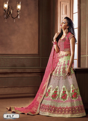 Green Peach Designer Lehenga Choli