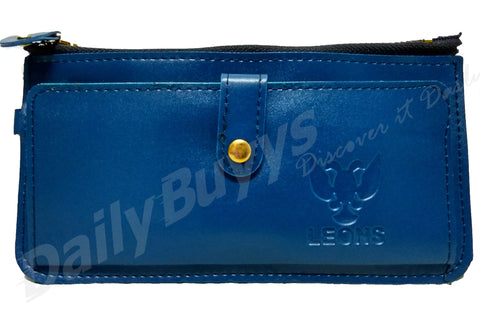 Blue matte finish ladies Wallet