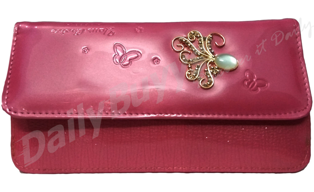 Red stone2 shining ladies Wallet