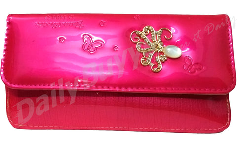Pink stone2 shining ladies Wallet