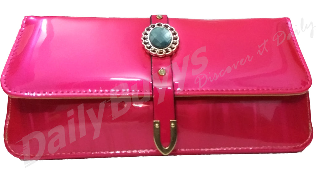 Pink stone shining ladies Wallet