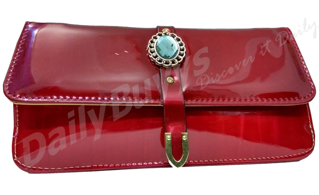 Red stone shining ladies Wallet
