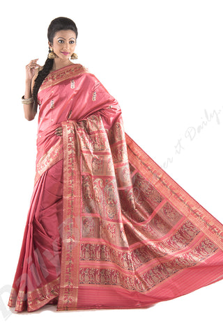 Sink in Pink, Baluchari Sarees (Add to Cart Get 15% Extra Discount)