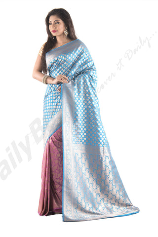 Violet Smooth Kantha Sarees