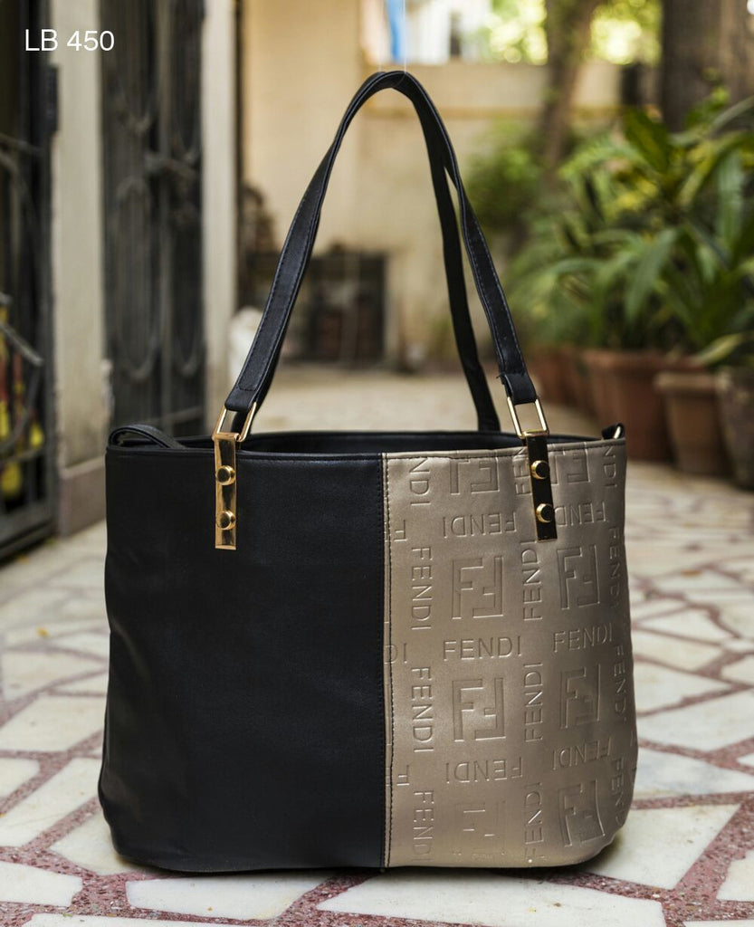 Black Two Color Totes