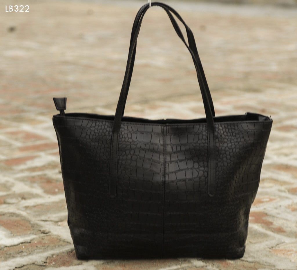 Black Croc Design Totes - Dailybuyys