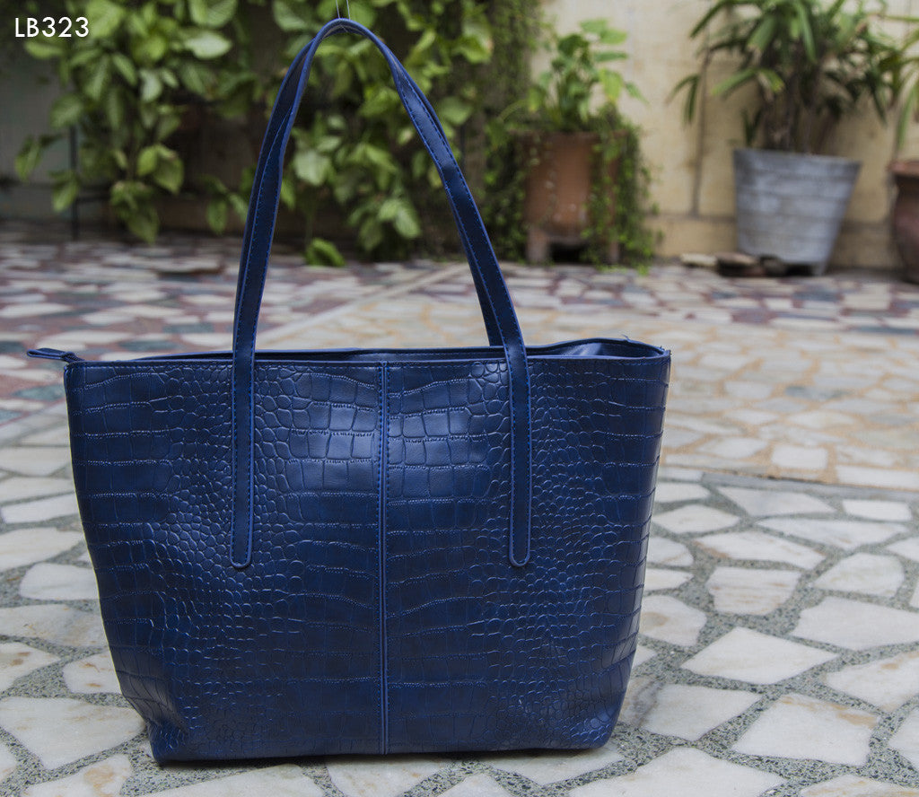Blue Croc Design Bag Totes