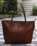 Brown Croc Design Totes