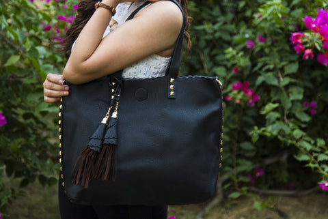 Black Bag In Bag Totes