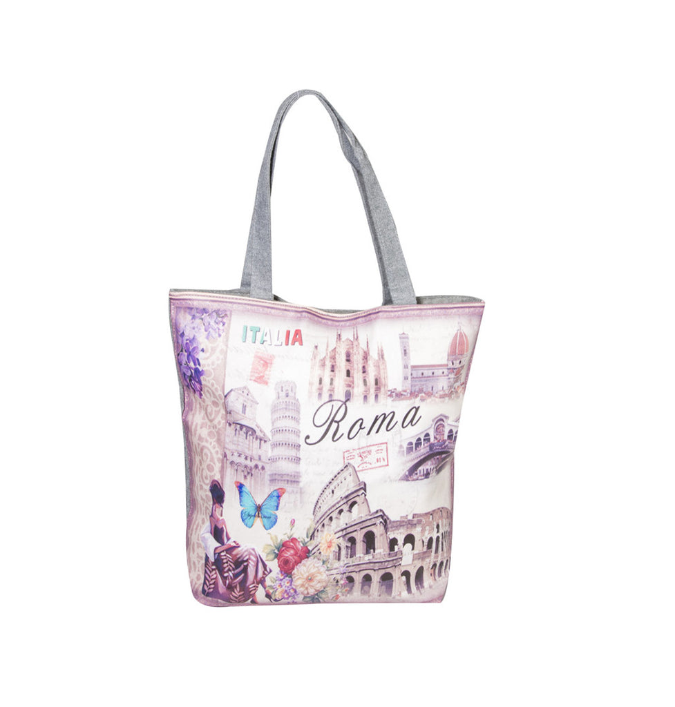 Roma Butterfly Printed Cotton Totes
