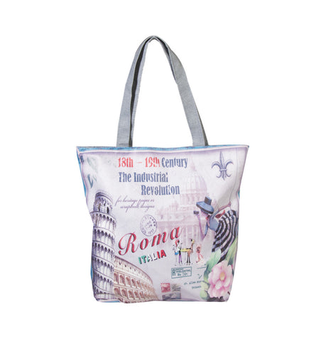 Roma Italia Printed Cotton Totes