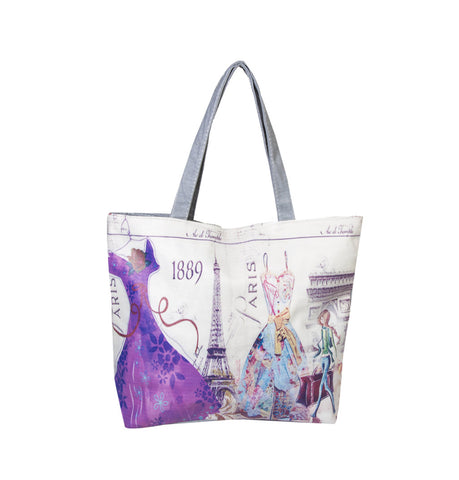 Paris Dress 1889 Printed Cotton Totes
