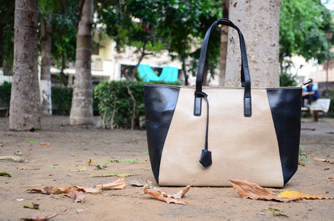 Black-Cream Bag-In-Bag Totes