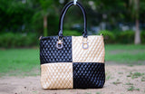 Gold Royal Check Totes
