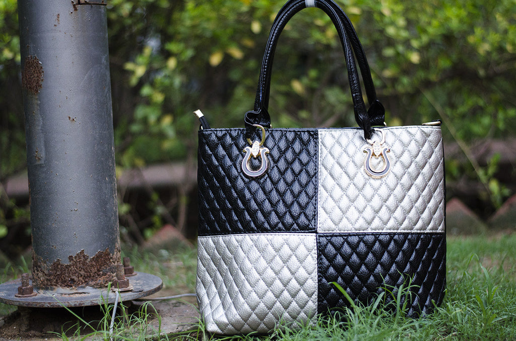 Silver Royal Check Totes