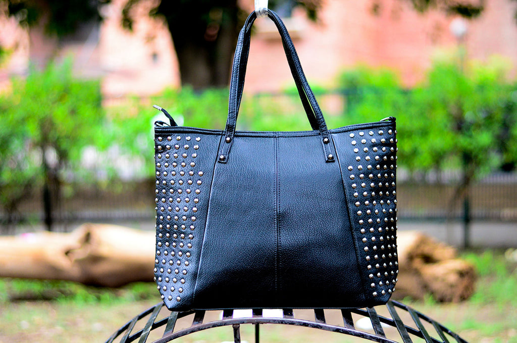 Black Studded Totes